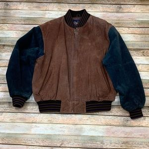 Vintage Varsity Suede Leather Jacket XL